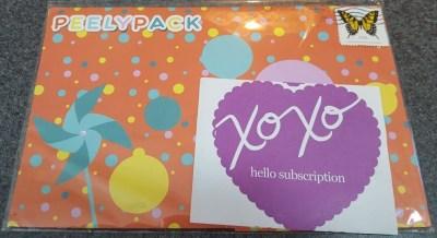 PeelyPack April 2016 Subscription Review & Coupon
