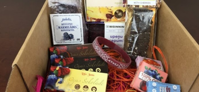 Sweet Latvia March 2016 Subscription Box Review + Coupon