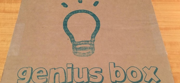 Genius Box Subscription Box Review + Coupon – April 2016