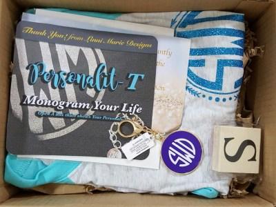 Personali-T Box April 2016 Monogram Subscription Box Review