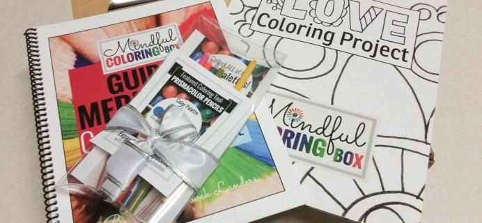 Mindful Coloring Box Subscription Box Review + Coupon – May 2016