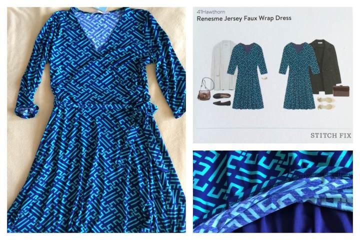 41Hawthorn Renesme Jersey Faux Wrap Dress detail
