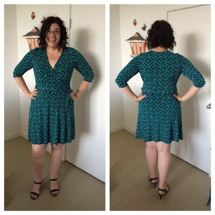 41Hawthorn Renesme Jersey Faux Wrap Dress