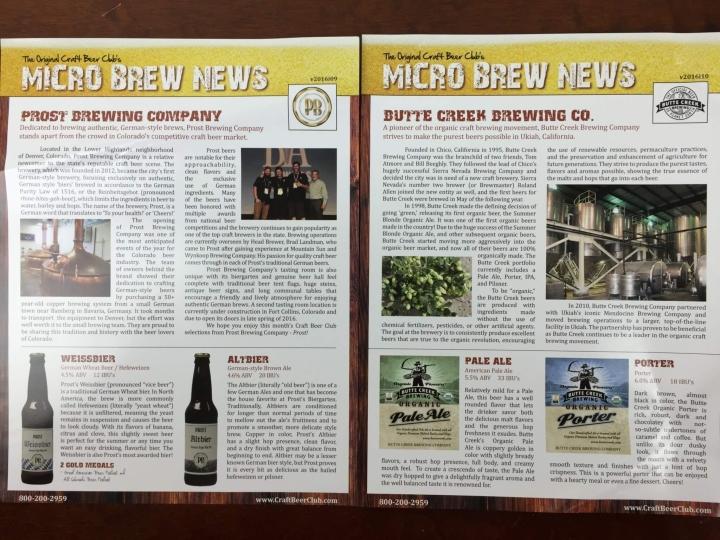 Craft Beer Club Box May 2016 (2)