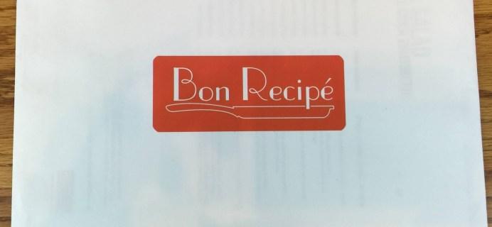 Bon Recipe Subscription Box Review – May 2016