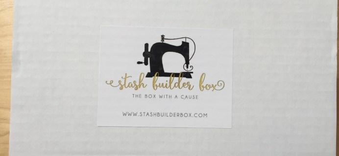 Stash Builder Box April 2016 Subscription Box Review