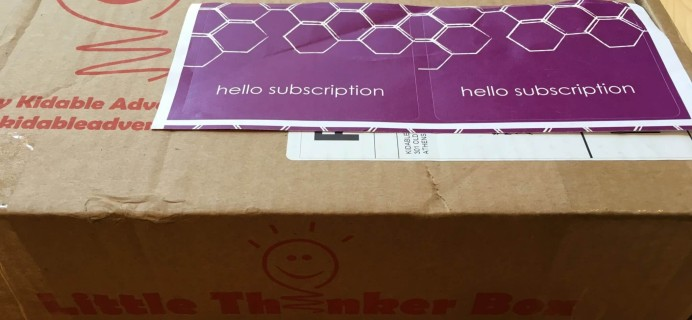 July 2016 Little Thinker Box Subscription Box Review