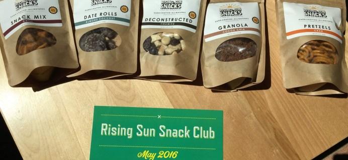 Rising Sun Snacks May 2016 Subscription Box Review + 50% Off Coupon