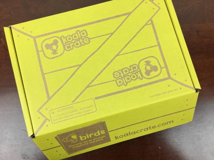 Koala Crate May 2016 box