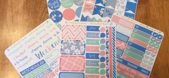 Station Stickers Club Review – May 2016