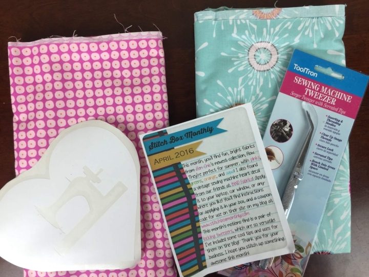 Stitch Box Monthly April 2016 review