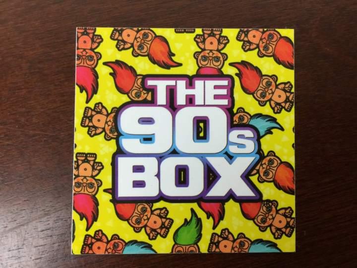 The 90s Box April 2016 Box