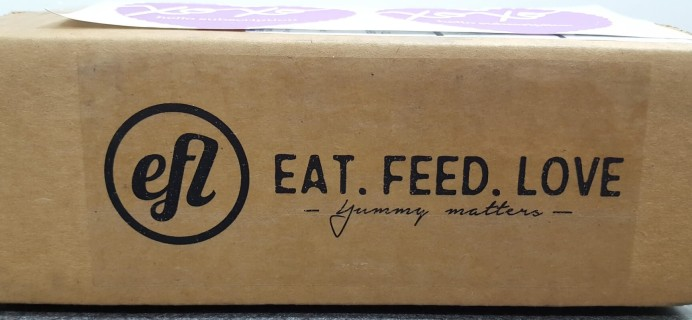 Eat Feed Love Taste Club Sample April 2016 Subscription Box Review & Coupon