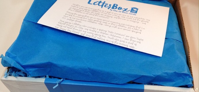 Letterbox Spring 2016 Subscription Box Review & Coupon