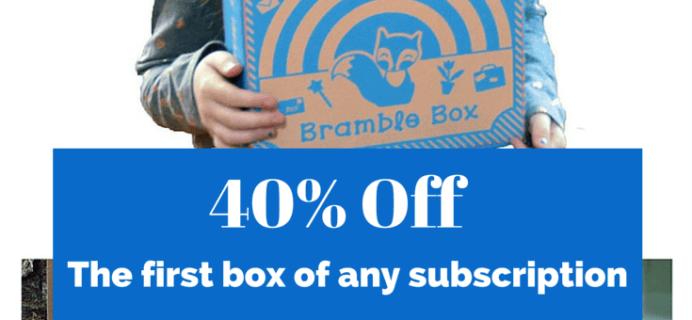Bramble Box Flash Sale: 40% Off First Box Coupon!