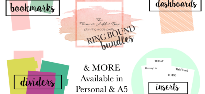 New Planner Addict Box Ring Bound Bundle + Subscription Changes