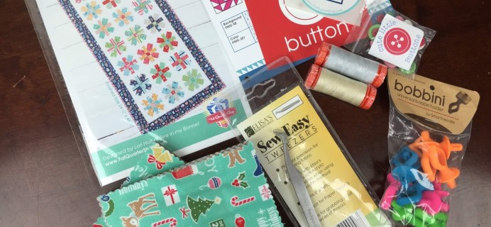 Sew Sampler May 2016 Subscription Box Review