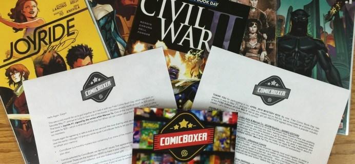 ComicBoxer April 2016 Subscription Box Review & Coupon