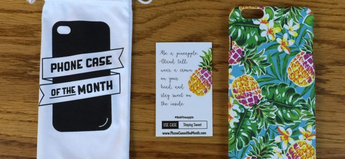 Phone Case of the Month Subscription Review + 50% Off Coupon – June 2016