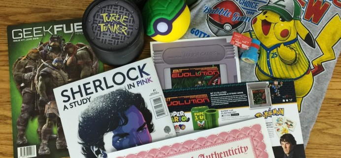 Geek Fuel June 2016 Subscription Box Review & Coupon – Still Available!