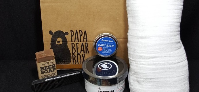 Papa Bear Box Subscription Box Review – May 2016