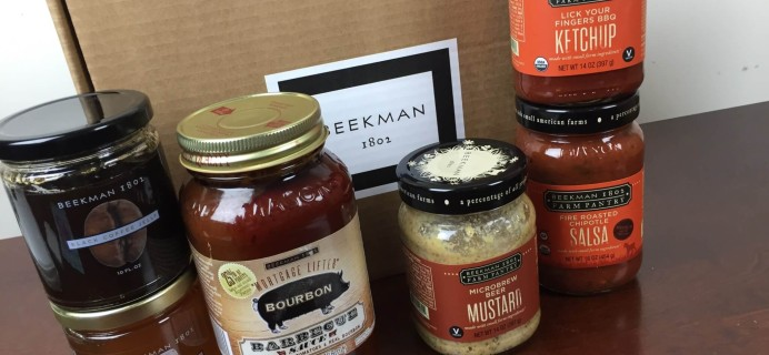 Beekman 1802 Specialty Food Club June 2016 Subscription Box Review