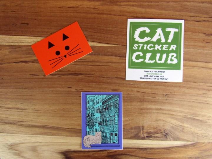 June 2016 Cat Sticker Club