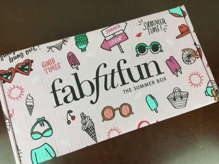 FabFitFun Box Summer 2016 box