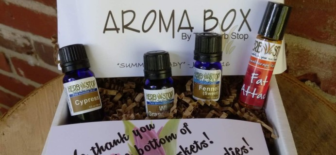 Herb Stop Aroma Subscription Box Review & Coupon – June 2016