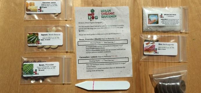 Urban Organic Gardener June 2016 Subscription Box Review