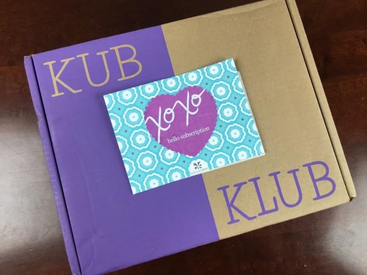 Kub Klub June 2016 box