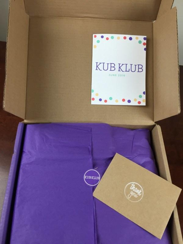 Kub Klub June 2016 unboxing