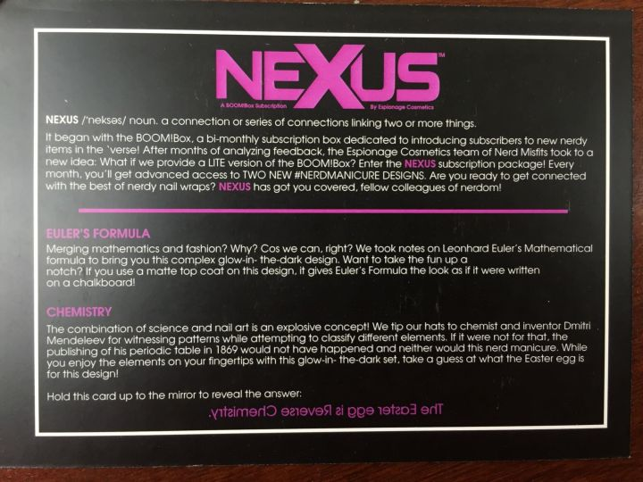 Nexus Box June 2016 (2)