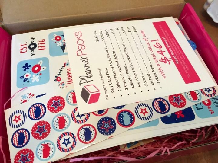 Planner Packs June 2016 box