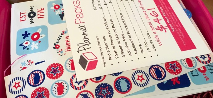 Planner Packs Subscription Box Review- June 2016