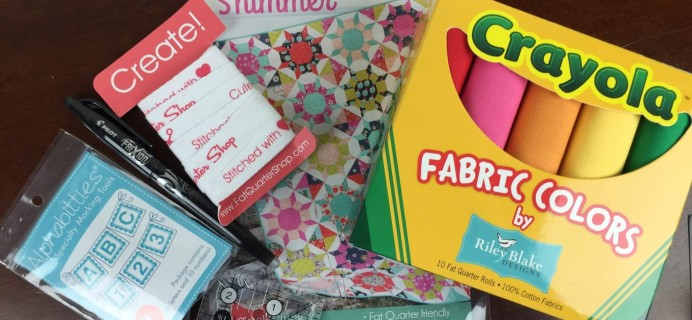 Sew Sampler June 2016 Subscription Box Review