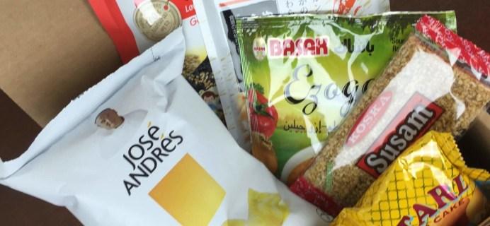 Yummy Bazaar June 2016 Subscription Box Review – Mini Box