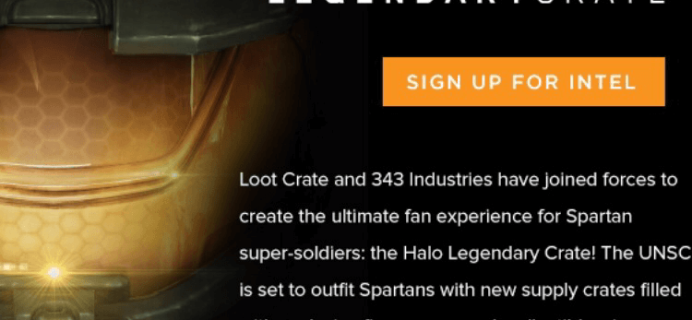 Loot Crate Halo Legendary Crate Bimonthly Subscription Launching Soon!