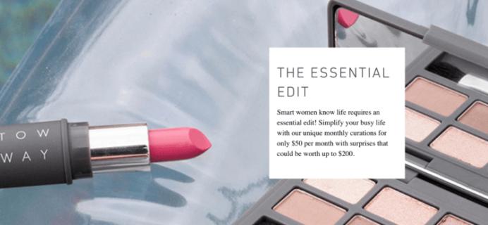 Stowaway Cosmetics Essential Edit July 2016 Spoilers