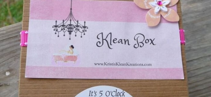 Klean Box May 2016 Subscription Box Review