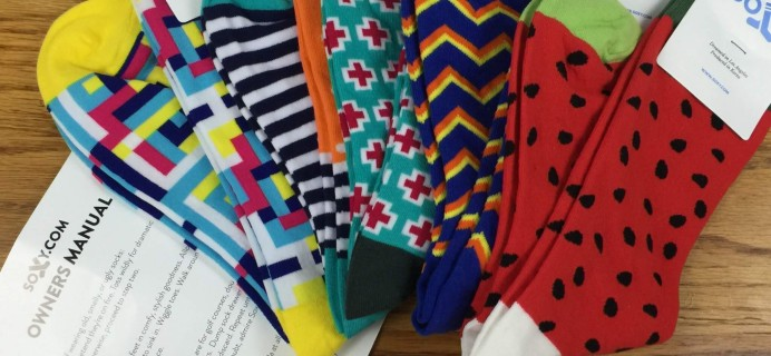 Soxy Socks Subscription Box Review – July 2016