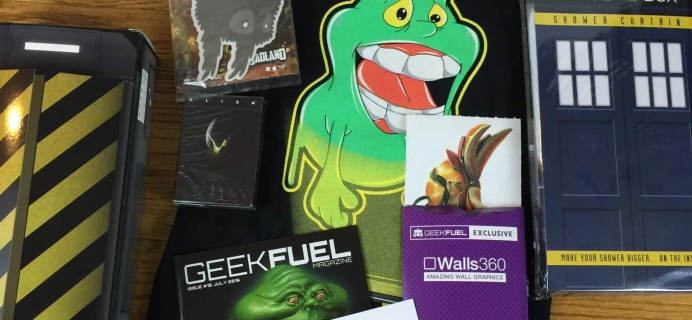 Geek Fuel July 2016 Subscription Box Review & Coupon – Still Available!