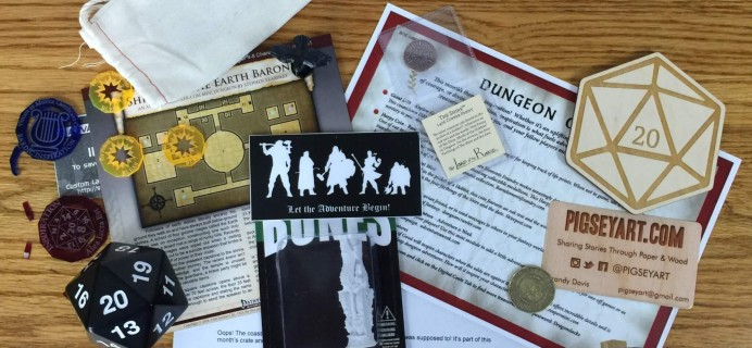 Dungeon Crate July 2016 Subscription Box Review