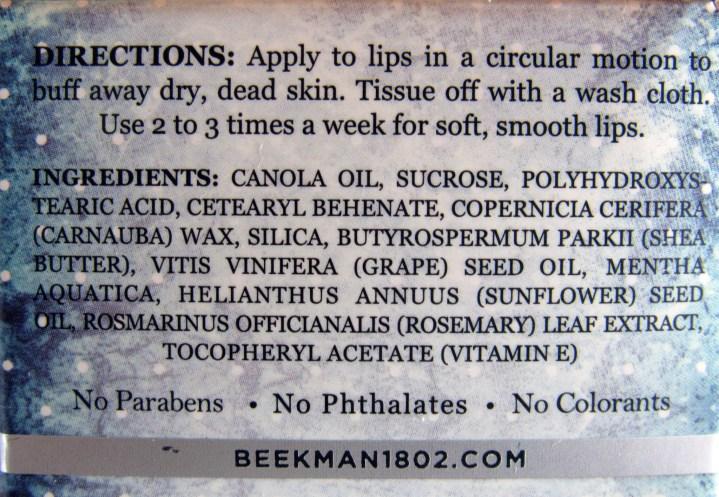 List of Ingredients on box