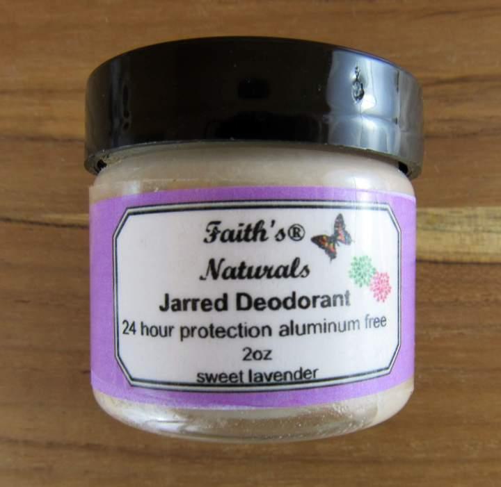 Faith's Naturals Jarred Deodrant