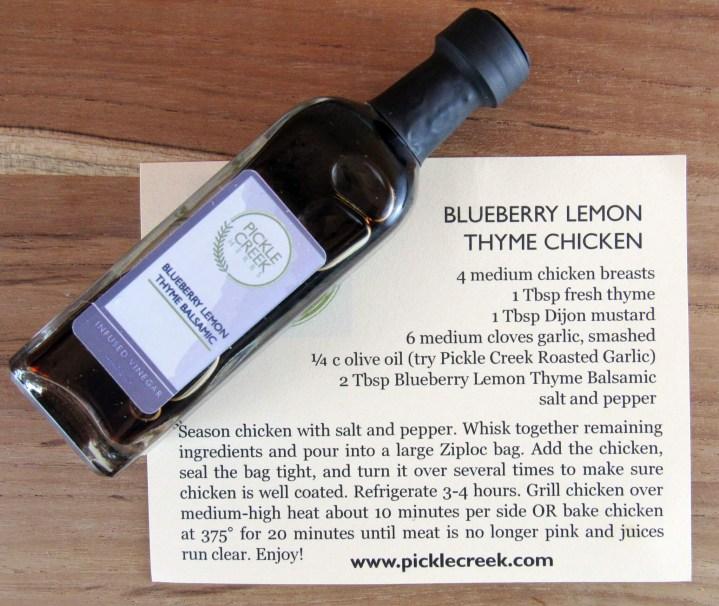 Blueberry Lemon Thyme Infused Balsamic Vinegar