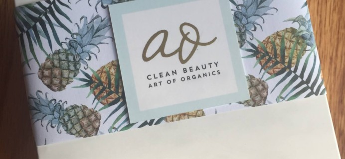 Art of Organics Clean Beauty Box July 2016 Subscription Box Review