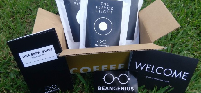 BeanGenius Coffee Subscription Box Review July 2016 & Coupon