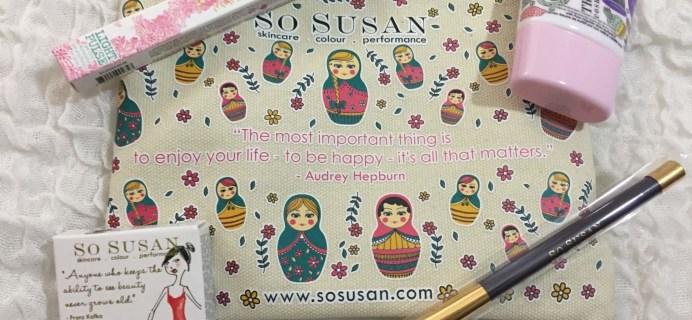 So Susan Lip Love Bag May 2016 Review & Coupon