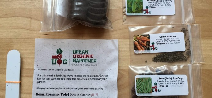 Urban Organic Gardener July 2016 Subscription Box Review + Coupon